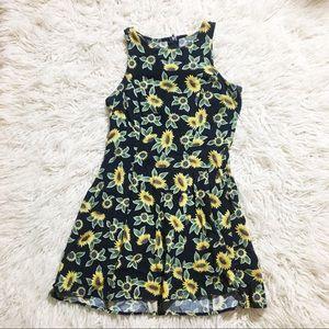 Vintage Sunflower Mini Dress