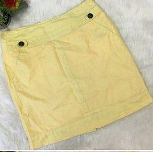 Banana Republic yellow linen skirt
