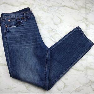 Madewell The Slim Boyjean Size 32 Medium Wash