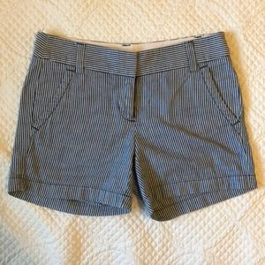J Crew Shorts Blue and White Striped Size 00