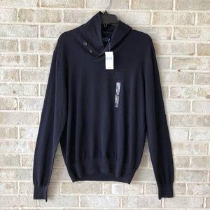Polo Ralph Lauren Sweater M Mens Navy Wool NWT