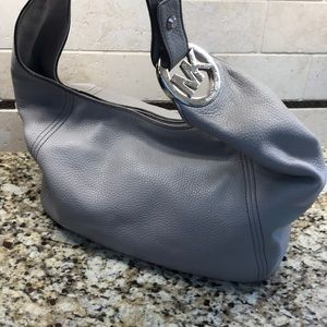 Michael Kors Grey Leather Purse