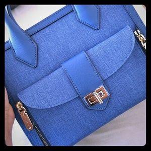 Denim rivington satchel
