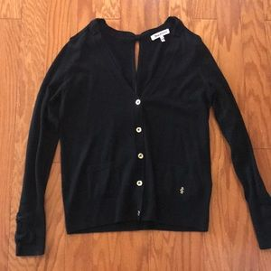 🍁Juicy Couture Black Cardigan Sweater Back Bows🍁