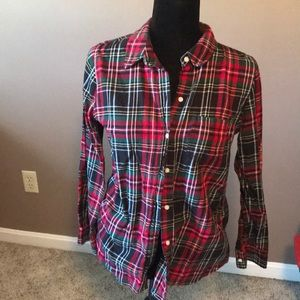 GAP boyfriend fit flannel shirt
