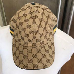 Classic Gucci Monogram Adjustable Baseball Hat/Cap