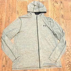 Men Under Armour Heat Gear Zip Hoodie Sweatshirt
