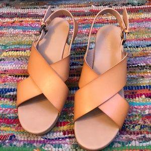 Wood Block Heeled Sandals