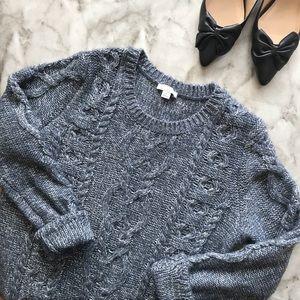 GAP Metallic Cable Knit Sweater