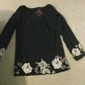 Johnny was embroidered top tunic L