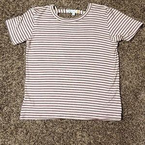 NWOT C & C California Striped Open Back Shirt sz S