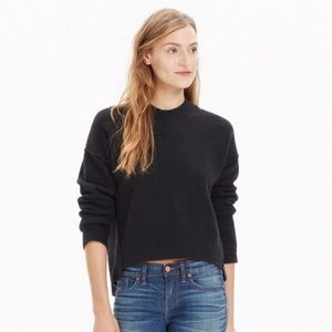 Madewell Connection Sweater Navy Blue