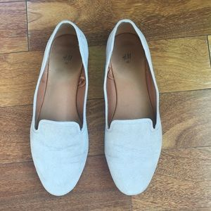 H&M Grey Taupe Flats Loafers 40 8.5