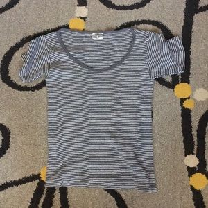 Curator Ribbed knit striped tee
