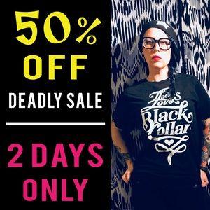 Black Collar Minneapolis Brand T-shirt