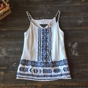 Embroidery Detail Tank Top