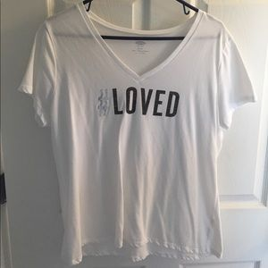 #Loved White Tee