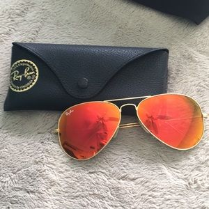 Ray Ban 3025 orange aviators