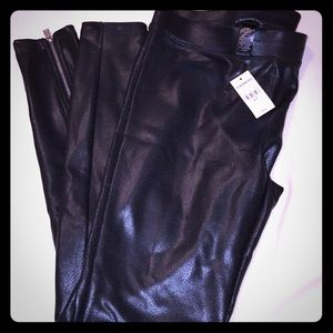 Brand new pebbles leather leggings! Express!