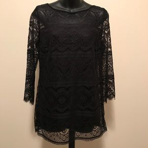 Gently Used Max Studio Lace Dressy Tunic Top!