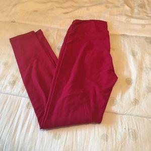 LuLaRoe red OS leggings, new!