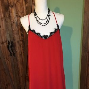 NWT Beautiful and Sexy Socialite Red Dress Size L