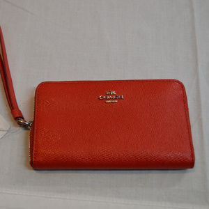 Coach F58053 Red Wallet