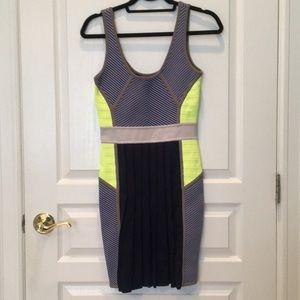 Beautiful cut 25 blue stripped bodycon dress