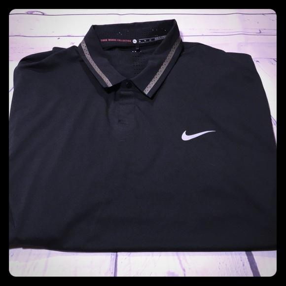 b0f26ff3b Tiger woods Nike Dri-Fit Men Golf Black Polo Shirt.  M_5a16f69e78b31c56a302f3b1