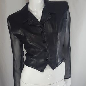Vintage Firenze Leather Jacket Top Small