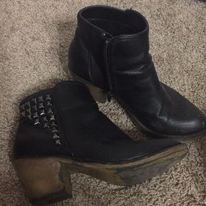 Studded black bootie