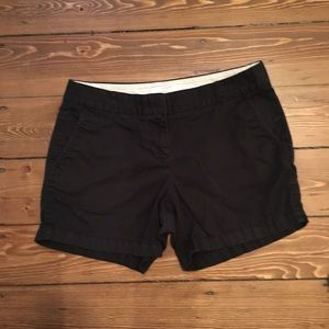 "J. Crew 5"" Chino Shorts - Black"