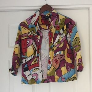 Vintage Funky 3/4 sleeve jacket