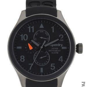 NEW Super Dry Black Dial Watch SYG 110-B