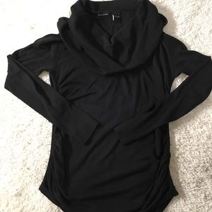 Women's Black Cowlneck Sweater