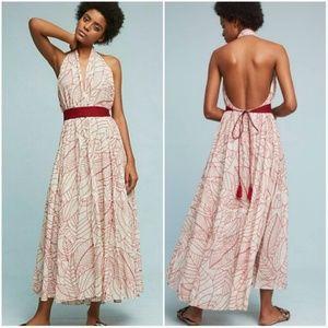 ANTHROPOLOGIE Lilka Samarkand Wrap Maxi Dress M/L