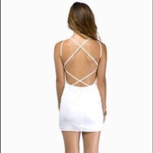 Tobi *never worn* White Bodycon exposed back dress
