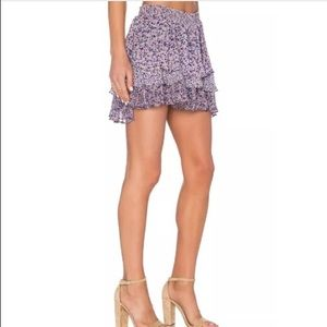 Joie Silk Mini Skirt Size Medium