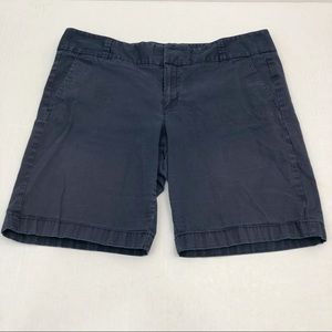 J. Crew Chino Shorts Navy Blue Frankie Fit Size 12