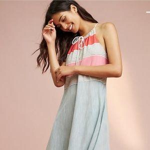 NWT Anthropologie Yarn-Dyed Maxi Dress XS Lilka
