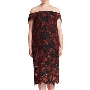 ABS Allen Schwartz Plus Size Lace Cocktail Dress
