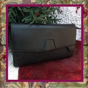 Alexander Wang Black Embossed Leather Wallet Bag