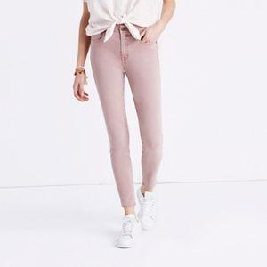 "Madewell 9"" High Rise Skinny Crop Jeans Mauve"