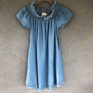 Alice & UO Hermione Denim Chambray Mini Dress XS