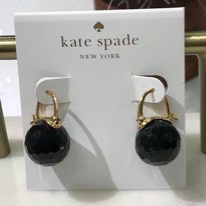 Kate spade black bauble earrings NWOT