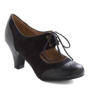 Wild Diva modcloth Best Of Times Black retro heels