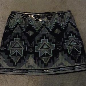 Express sequin skirt