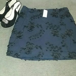 Brand New! Banana Republic classy navy black skirt
