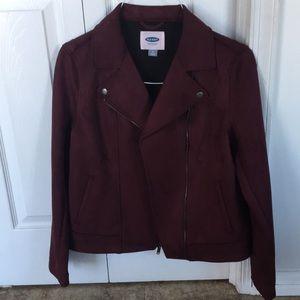 NWT Fleece Moto Jacket
