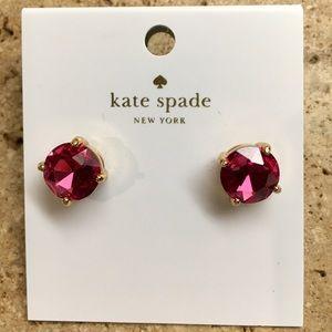 NEW! Kate Spade Fuschia Round Stud Earrings